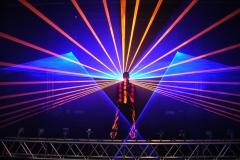 Lasershow und Jonglage - ein Feuerwek der Sinne