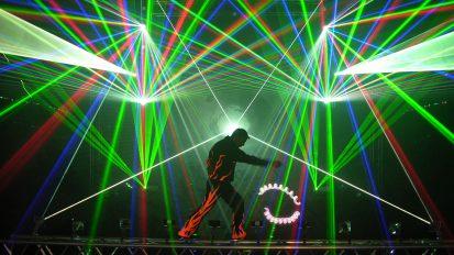 Laserjonglage